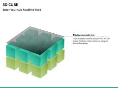 3D cube PPT slide 19