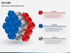3D cube PPT slide 1