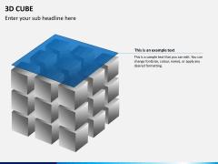 3D cube PPT slide 10