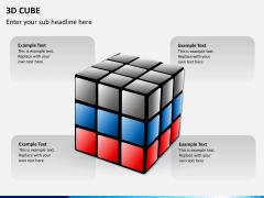 3D cube PPT slide 2