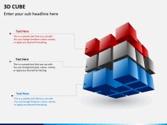 3D cube PPT slide 3