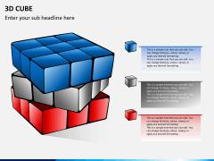 3D cube PPT slide 4