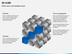 3D cube PPT slide 5