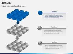 3D cube PPT slide 6