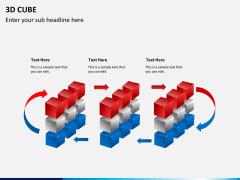 3D cube PPT slide 7