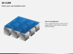 3D cube PPT slide 8