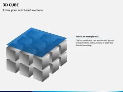 3D cube PPT slide 9