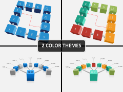 3d cubes process PPT cover slide