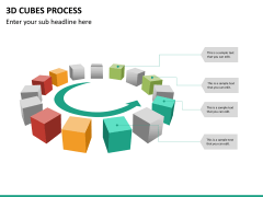 3d cubes process PPT slide 16