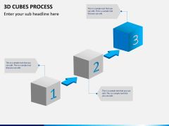 3d cubes process PPT slide 2