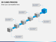 3d cubes process PPT slide 3