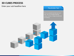 3d cubes process PPT slide 4