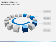 3d cubes process PPT slide 6
