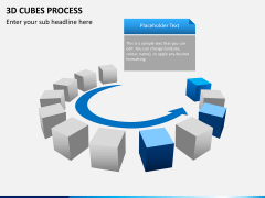 3d cubes process PPT slide 7