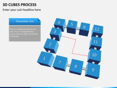3d cubes process PPT slide 8