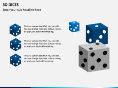 3D dices PPT slide 1