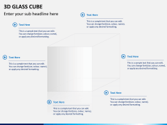 3D glass cube PPT slide 10