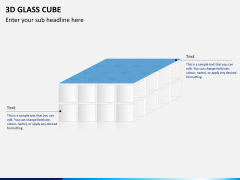 3D glass cube PPT slide 13