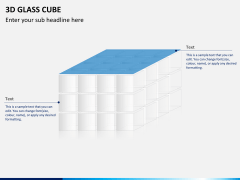 3D glass cube PPT slide 14