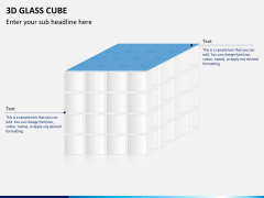 3D glass cube PPT slide 15