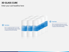 3D glass cube PPT slide 4