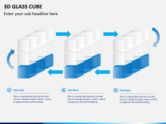 3D glass cube PPT slide 8