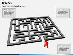 3D maze PPT slide 2