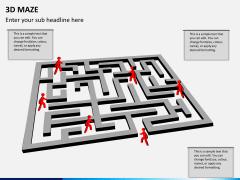 3D maze PPT slide 3