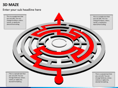 3D maze PPT slide 4