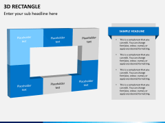 3D rectangle PPT slide 1