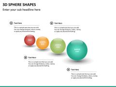 3D sphere PPT slide 13