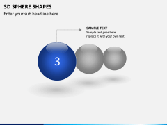 3D sphere PPT slide 2