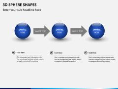 3D sphere PPT slide 4