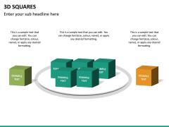 3D squares PPT slide 12