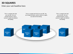 3D squares PPT slide 4