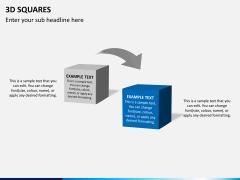 3D squares PPT slide 8