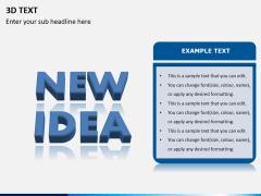 3D text PPT slide 5