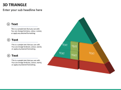 3D triangle PPT slide 10