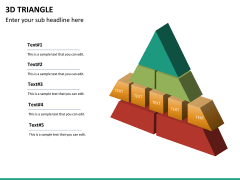 3D triangle PPT slide 11