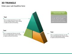 3D triangle PPT slide 12