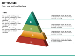 3D triangle PPT slide 13