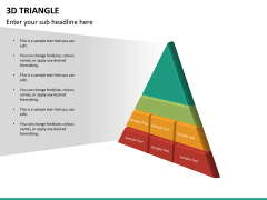 3D triangle PPT slide 16