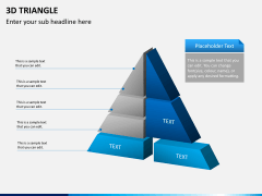 3D triangle PPT slide 1