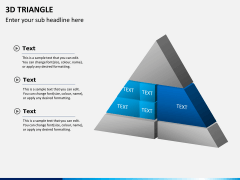 3D triangle PPT slide 2
