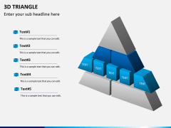 3D triangle PPT slide 3