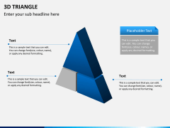 3D triangle PPT slide 4