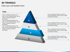 3D triangle PPT slide 5