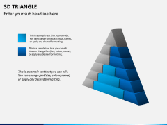 3D triangle PPT slide 6