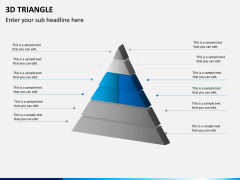 3D triangle PPT slide 7