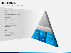 3D triangle PPT slide 8